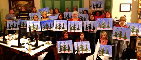 Class photo - Christmas trees 2