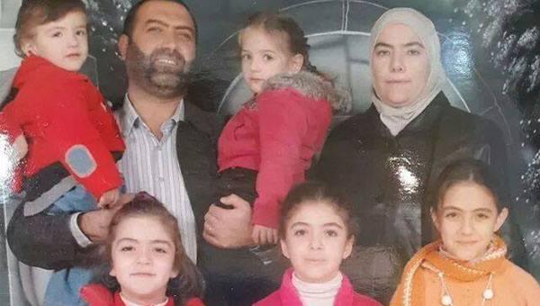 Rania Alabassi e sua família