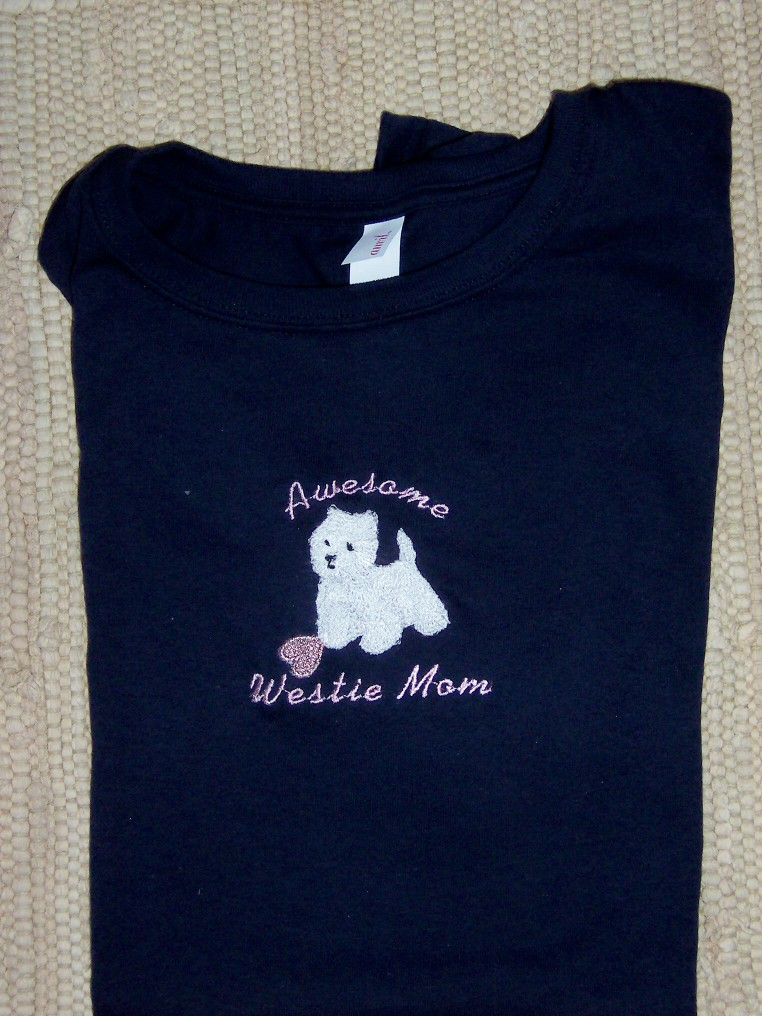 Tee Awe West mom pink