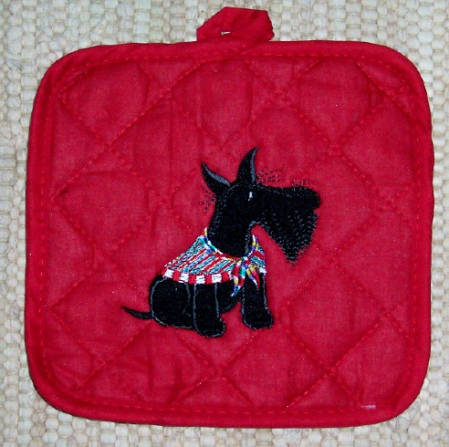 potholder plaid Scot