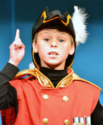 Wildwood student as Major-General Stanley. Photo by Steve Zirkelbach, 2015.