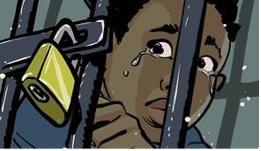 SOS_SLAVES Boy in Cage
