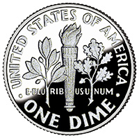 One Thin Dime! One Fat Change!