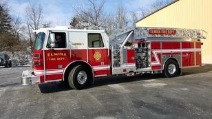 Elmira Fire Dept.ladder trucks