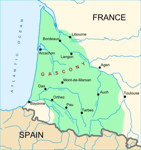 Gascony map