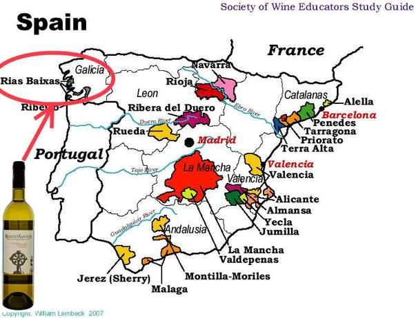 Spain Wine Map 3