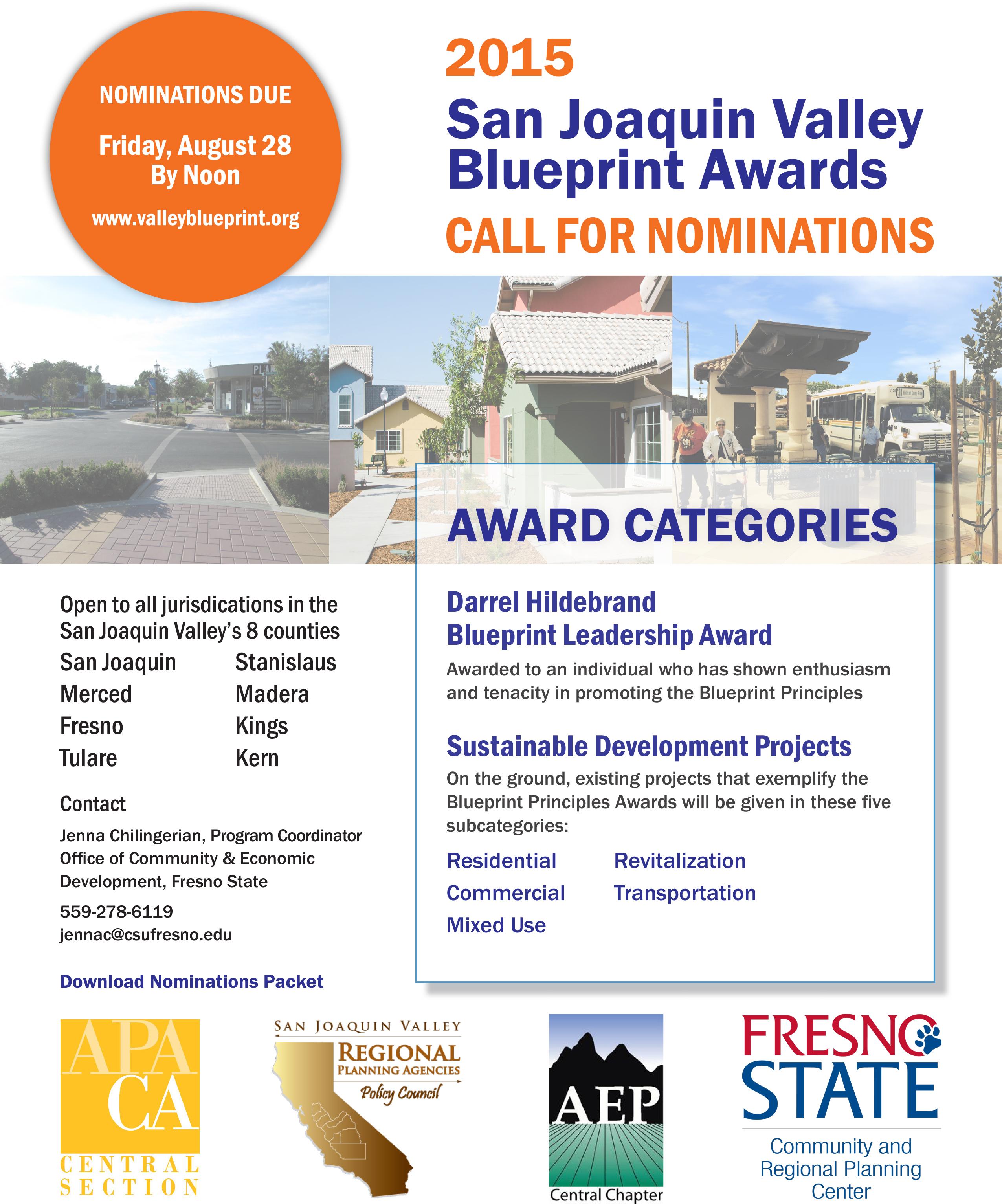 2015 SJV Blueprint Awards nomination period closing soon!