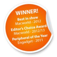 WINNER! Best in show - Macworld, 1012 | Editors Choice Award - Macworld, 2012 | Peripherals of the Year - Engadget, 2011