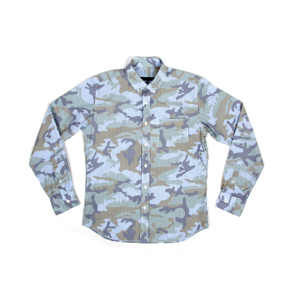 Sophnet Camouflage Over Print BD Shirt-2
