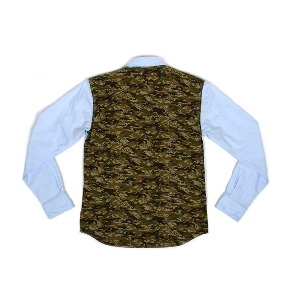 Sophnet Camouflage Panel Oxford BD Shirt-8