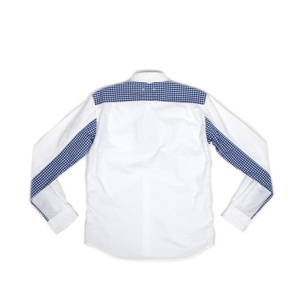 Sophnet Gingham Check Panel Oxford BD Shirt-10