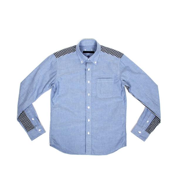 Sophnet Gingham Check Panel Oxford BD Shirt
