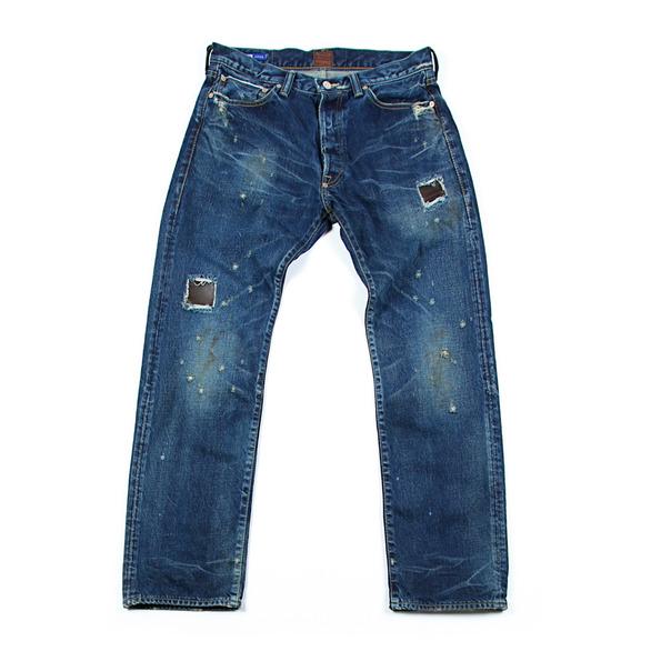 Strivers Row & Co. Aged 5 Pocket Denim Indigo_Leather-2