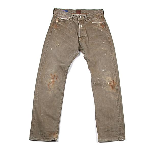Strivers Row & Co. Aged 5 Pocket Denim Olive_Rust