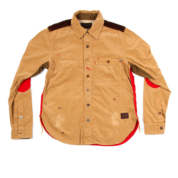 Strivers Row & Co. Red Contrast Woven L_S Shirt