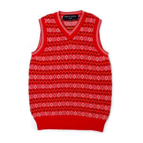 COMME des GARCONS HOMME Knit Fair Isle Vest