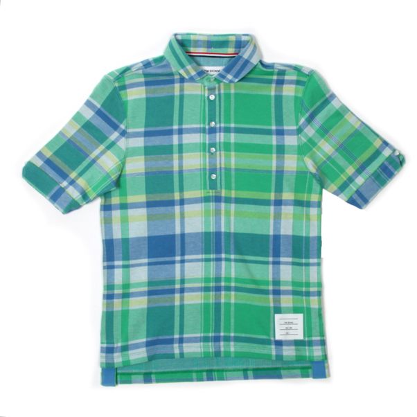 Thom Browne Madras Check Polo