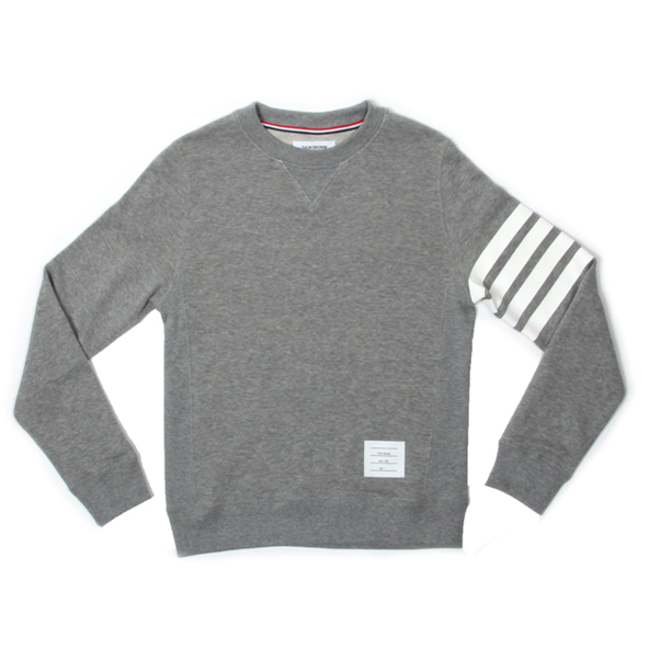 Thom Browne Stripe Sleeve Crew Sweater