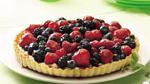 red white blueberry tart