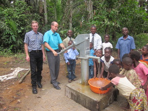 10. Nathan and Elisha pumping water from a new well