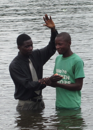 One of 75 baptisms