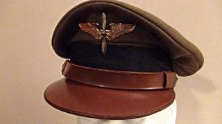 veterans-WWII army air corps visor cap