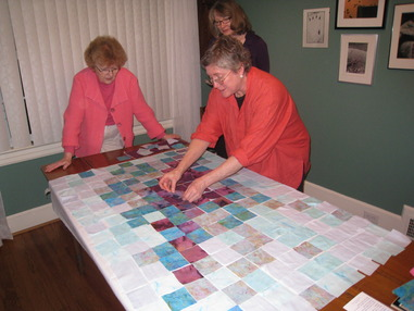 laying out quilt 1