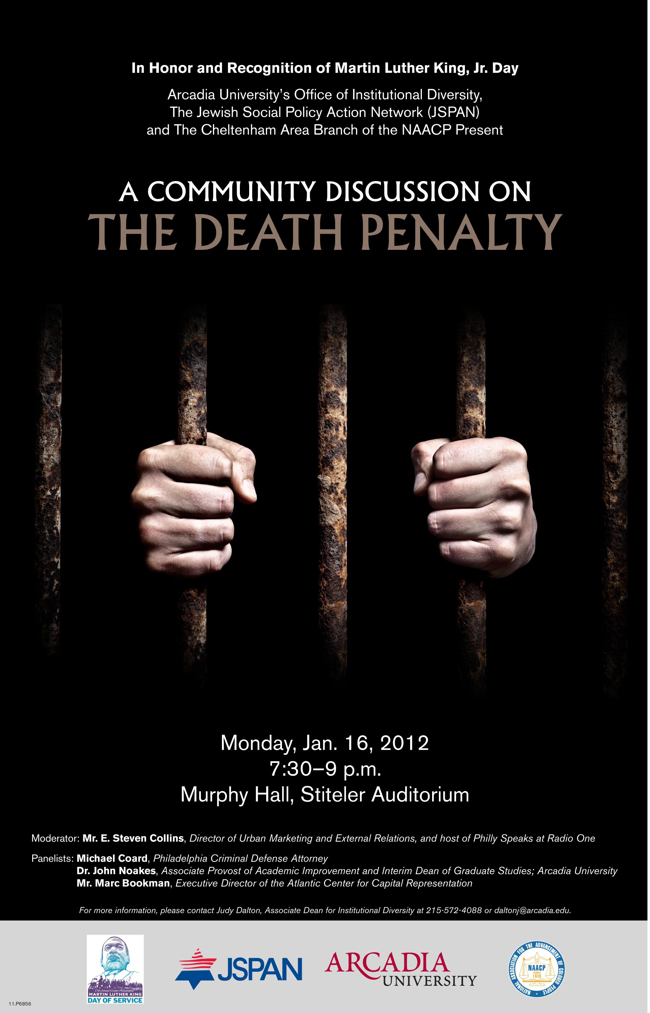 Arcadia MLK Day 2012 death penalty flyer