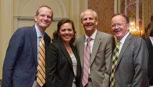 Rep. Brad Dee, House Speaker Becky Lockhart, Senate President Wayne Niederhauser, Sen. Stuart Adams