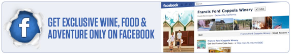 Get exclusive wine, food and adventure only on facebook