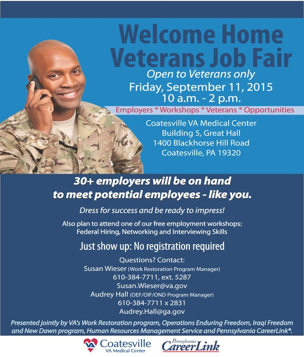 welcome home veterans job fair - veterans flyer 7-17-15 final