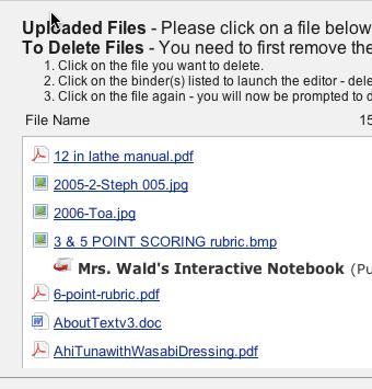 Manage Uploads