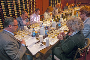 Evaluating California Chardonnays from across the state.
