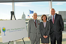 New Zealand Ambassador Wade Armstrong, Acting Deputy U.S. Trade Representative Wendy Cutler, Wine Institute President and CEO Robert P. Koch