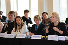 Assistant Administrator TTB Headquarters Operations Theresa McCarthy addresses the APEC group
