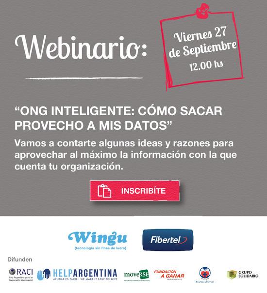 Invitación Webinario ONG Inteligente