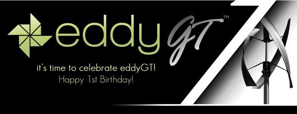 eddyGT turns 1 year old!