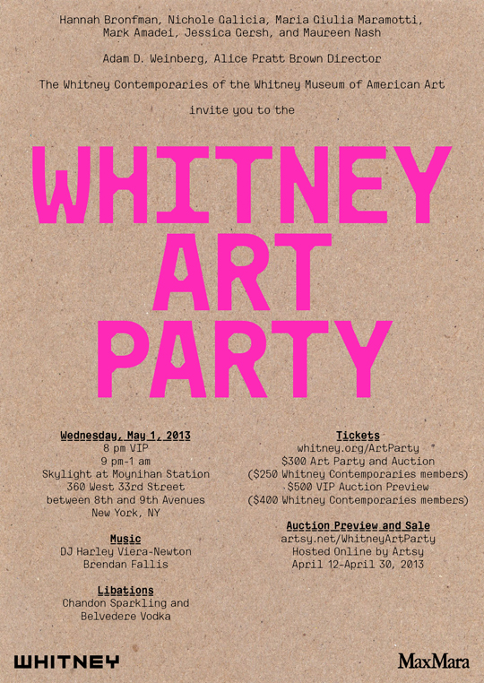 2013 Whitney Art Party