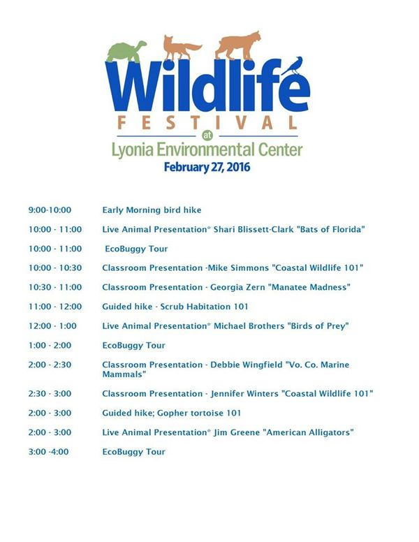 Wildlife Festival _ event schedule 2