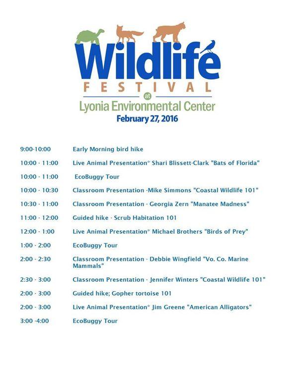 Wildlife Festival _ event schedule 2