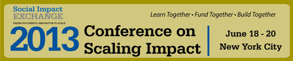 2013 Conference on Scaling Impact