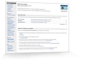 Screenshot Alexa Site Audit