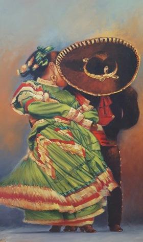 el Baile por Rafael Chavez half size