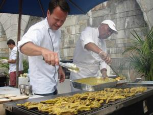 Chef Hugo Uys, grill master at the Wines of South Africa event on July 27