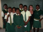Tammie with girls at the Sibekezele School