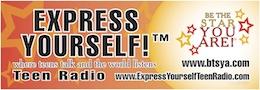 Express Yourself orange banner