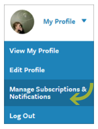 Manage Subscriptions and Notifications
