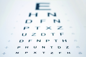 Blurred Eye Chart courtesy of shutterstock_10621201 Paid Lic
