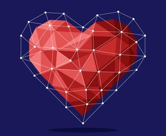 Geometric Heart courtesy of FREEPIK Free Lic
