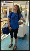 Emily Evans Belgium JC at airport